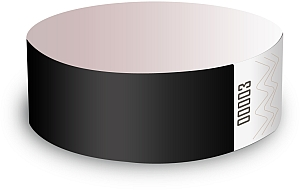 Black Paper Wristbands