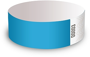 Sky Blue Paper Wristbands
