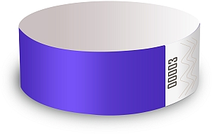 Purple Paper Wristbands