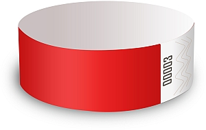 Red Paper Wristbands