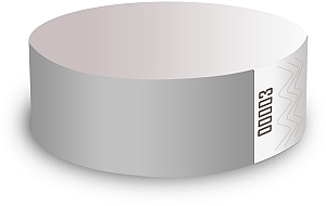 Silver Paper Wristbands