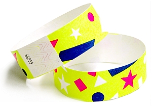 Confetti Design Paper Wristbands