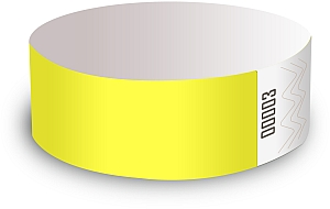 Yellow Glow Paper Wristbands