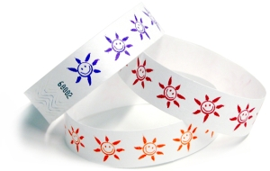 Sun Face design Tyvek Wristbands