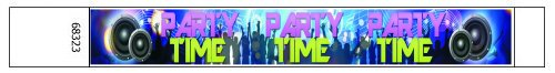 Party Time Club Design Paper Wristbands