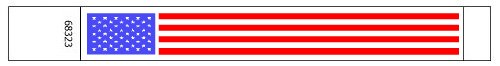 USA Flags design Paper Tyvek Wristbands