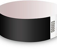 Black Tyvek Wristbands