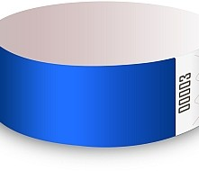 Blue Tyvek Wristbands