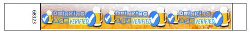 Beer Drinking Age Verified Tyvek Wristbands