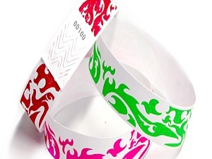 Flames Design Tyvek Wristbands