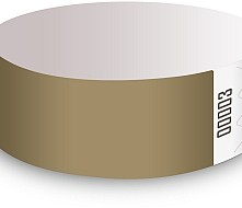 Gold Tyvek Wristbands