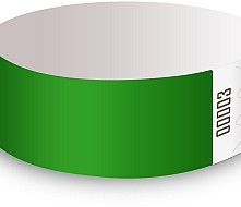 Green Tyvek Wristbands