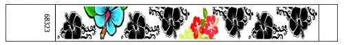 Hawaiian Flowers Design Tyvek Wristbands