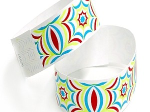 Hypnotic Design Tyvek Wristbands