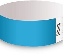 Lt. Blue Tyvek Wristbands