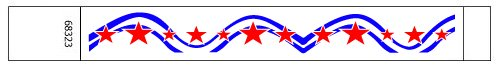 Stars and Stripe Design Tyvek Wristbands