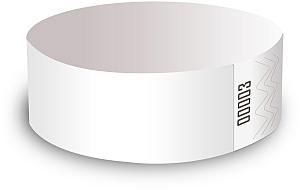 White Tyvek Wristbands