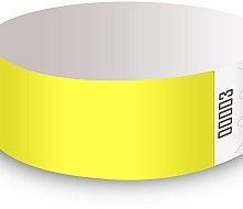 Yellow Glow Tyvek Wristbands