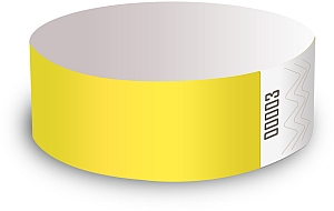 Yellow Tyvek Wristbands