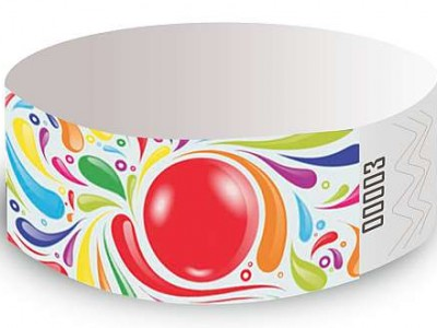 Bubble Gum Design Tyvek Wristbands