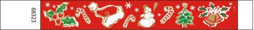 Christmas Design Tyvek Wristbands