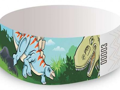 Dinosaurs Design Tyvek Wristbands