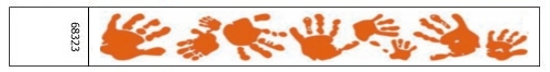 Handprint Design Tyvek Wristbands