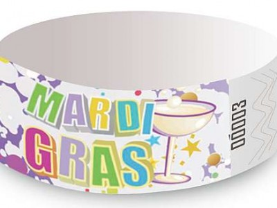 Mardi gras Design Tyvek Wristbands