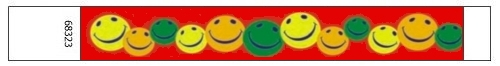 Happy Face Design Tyvek Wristbands