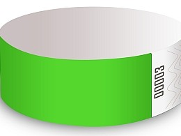 Neon Lime Solid Design Tyvek Wristbands