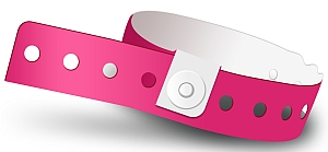 Neon Pink Plastic Wristbands