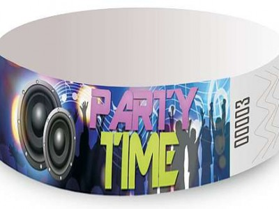 Party Club Design Tyvek Wristbands