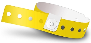 Yellow Plastic Wristbands