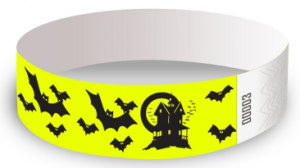 Bats Design Tyvek Wristbands
