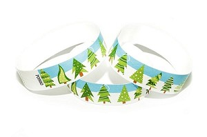Christmas Trees Tyvek Wristbands