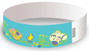 Easter Design Tyvek Wristbands