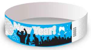 New Years Design Tyvek Wristbands