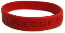Red Ribbon Silicone Wristbands